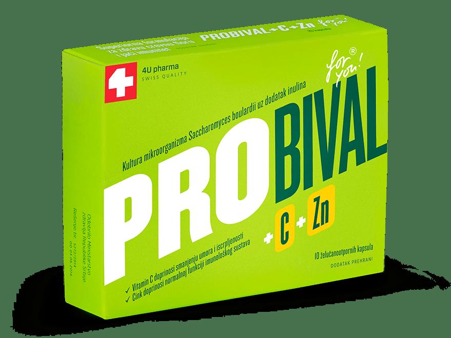 PROBIOTIK ZA ODRASLE – PROBIVAL + C + Zn